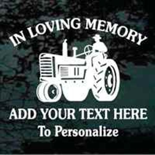Farmer On Vintage Tractor Memorial