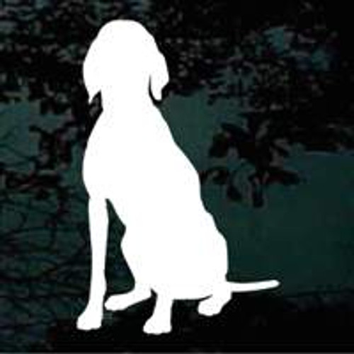 Sitting Dog Silhouette Decals