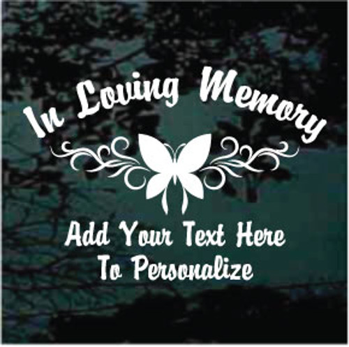 Butterfly Design Memorial Window Decals