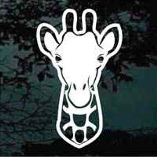 Giraffe Head Decals