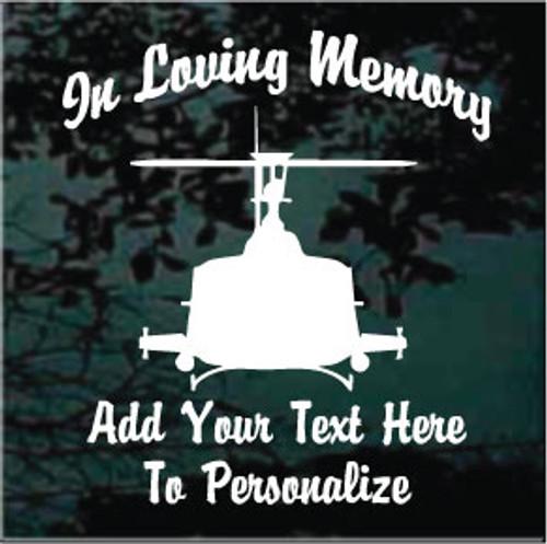 Helicopter Memorial Decals