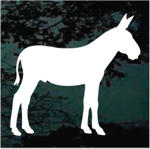 Donkey Silhouette Window Decals