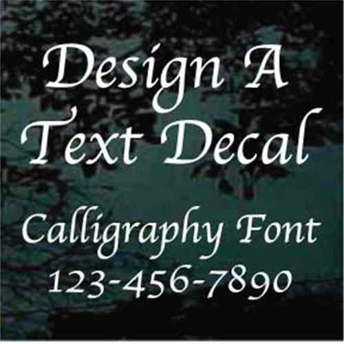 Calligraphy Vinyl Lettering Decals