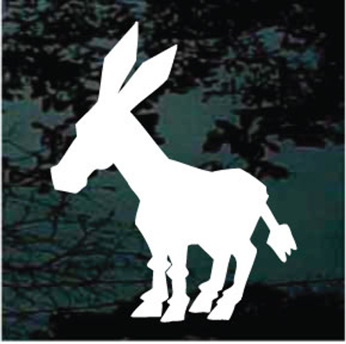 Cartoon Donkey Silhouette Window Decal