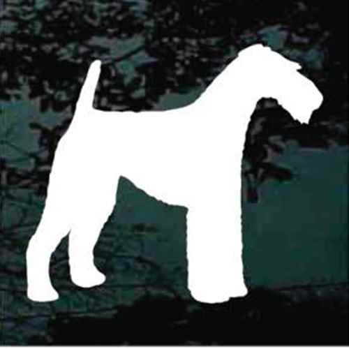 Airedale Terrier Standing Silhouette Car Window Decal