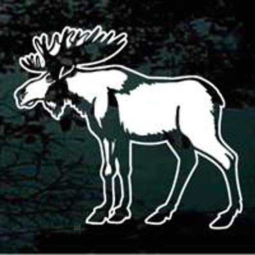 Attractive Moose Window Decals