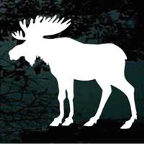 Moose Silhouette Window Decals