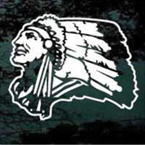 Indian Mascot 08 Decal