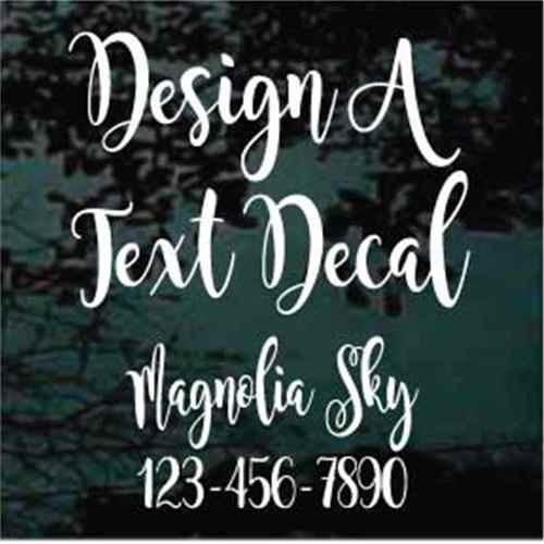 Custom Vinyl Lettering Window Decals Magnolia Sky Font