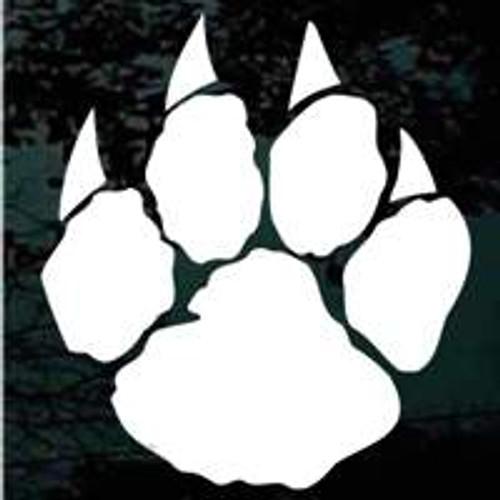 Nice Wildcats Paw Print Decals