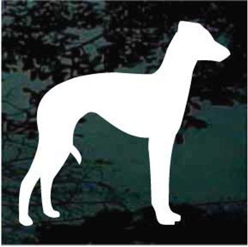 Italian Greyhound 01 Silhouette Window Decal