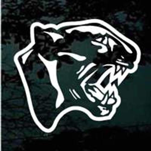 Fierce Panther Head Window Decals