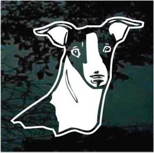 Italian Greyhound Head 01 Window Decal