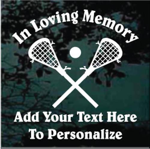 Crossed Lacrosse Sticks Memorial Decals