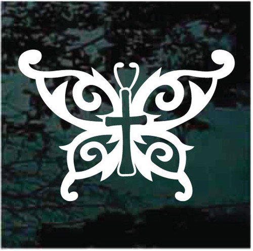Tribal Cross Butterfly Decals