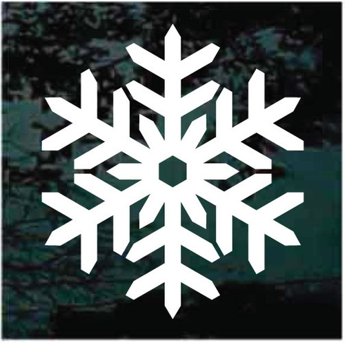 Decorative Snowflake Window Decals