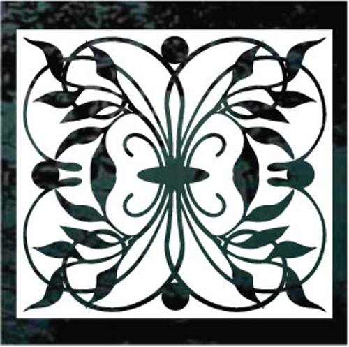 Floral Window Tile Solid