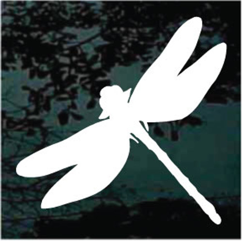 Simple Silhouette Dragonfly Window Decals
