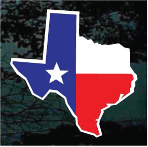 Texas Flag State Shape