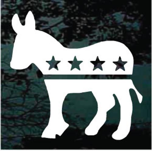 Democratic Donkey Window Decals