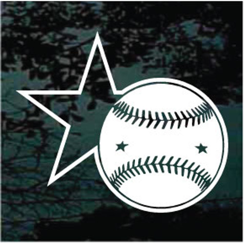 All Stars Baseball Window Decals