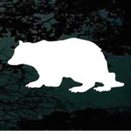 Crouched Bear Silhouette Window Decals