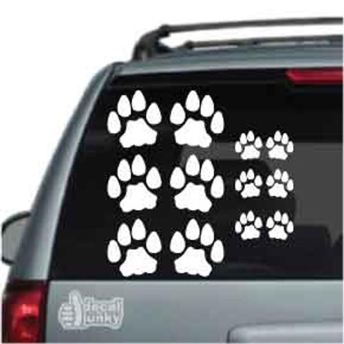 Cat Paw Print Stickers