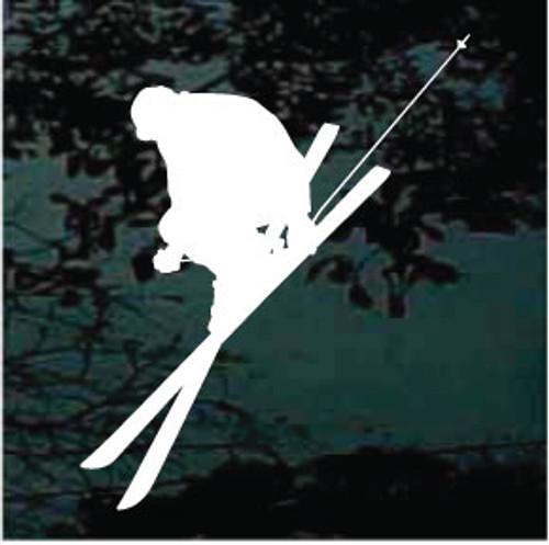 Snow Skiing Silhouette 08