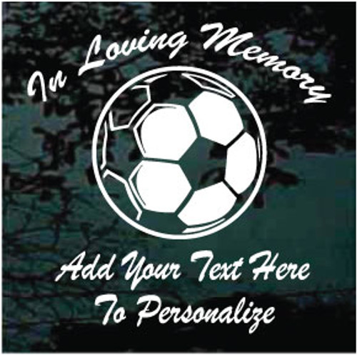 Soccer Ball Memorial Decals