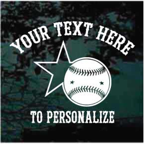 All-Stars Personalized Baseball Window Decals