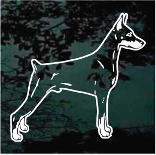Miniature Pinscher 01 Window Decal