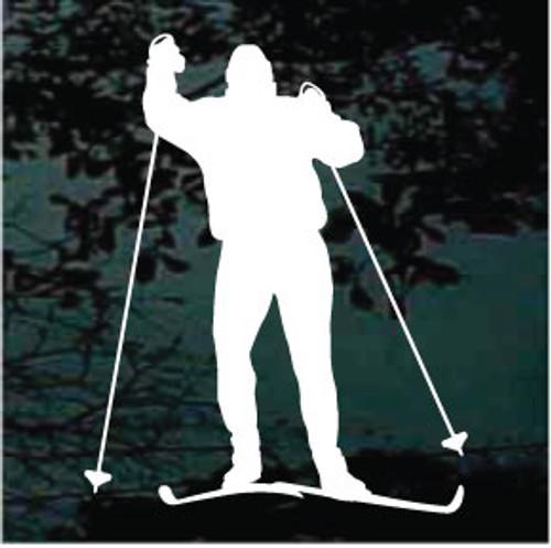 Snow Skiing Silhouette 09