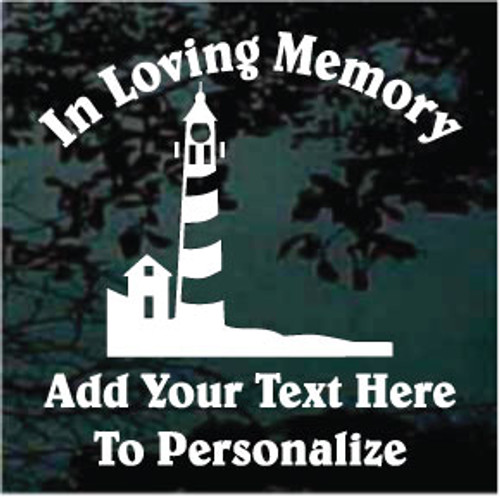 Simple Lighthouse Memorial Decals