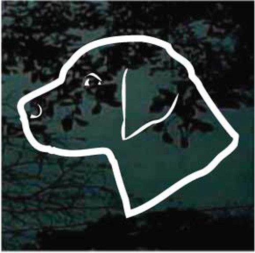 Labrador Retriever Head Outline Window Decal