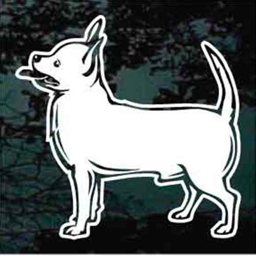 Chihuahua Standing Profile Window Decals