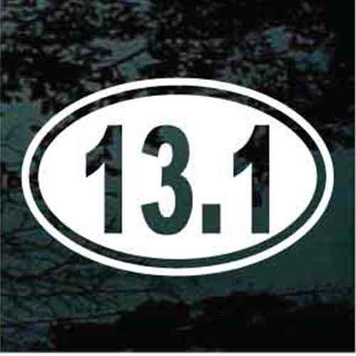 Half Marathon 13.1 Oval Decals