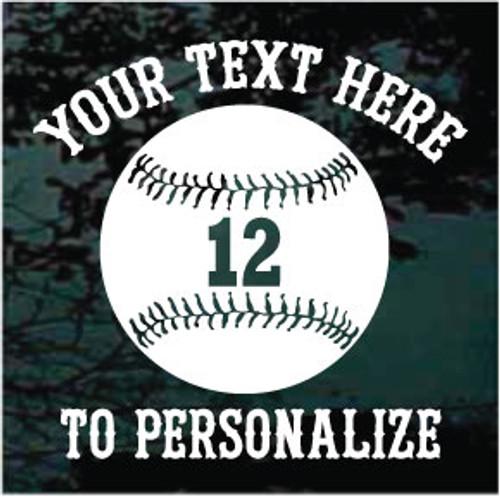 Baseball 01 S. Tiffany Text Window Decals