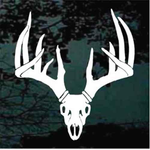 11 Point Deer Skull Decals
