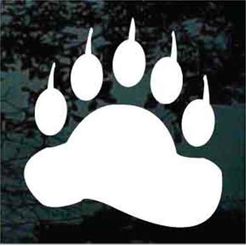 Front Bear Paw Window Decals