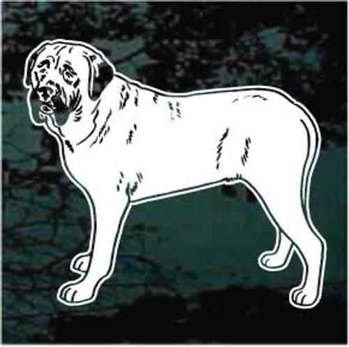 English Mastiff 01 Window Decal