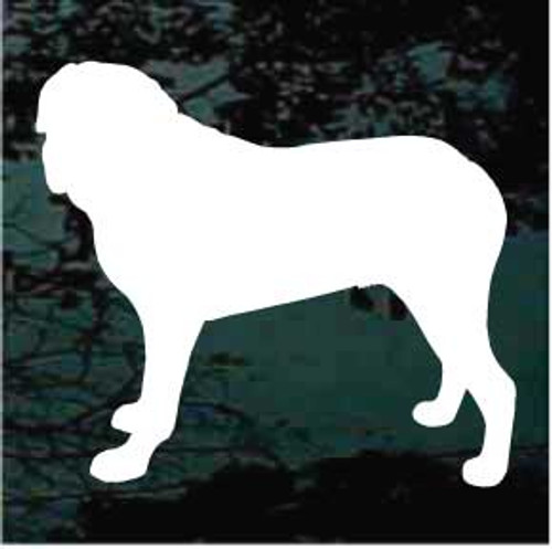 English Mastiff 01 Silhouette Window Decal