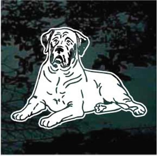 English Mastiff 02 Window Decal