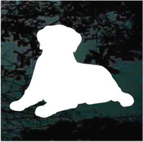 English Mastiff 02 Silhouette Window Decal
