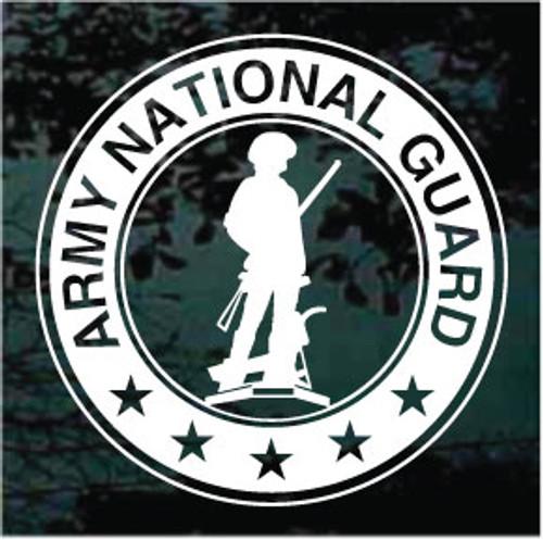 U.S. Army National Guard Logo Window Decal