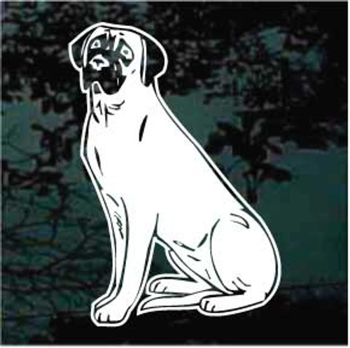 English Mastiff 03 Window Decal
