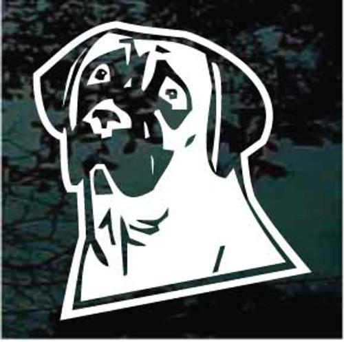 English Mastiff Head 03 Window Decal