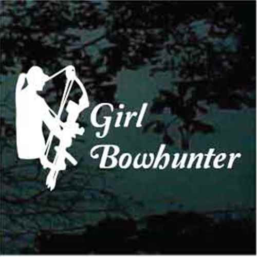 Girl Bow Hunter With Script Text