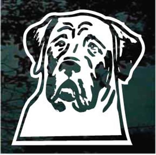 English Mastiff Head 02 Window Decal