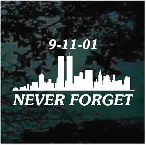 Never Forget 911 Window Decals