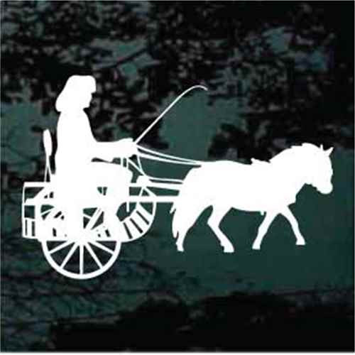 Silhouette Miniature Horse & Cart Decals